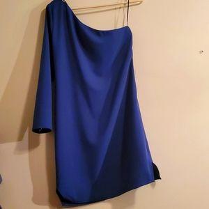 Beautiful Navy one shoulder dress